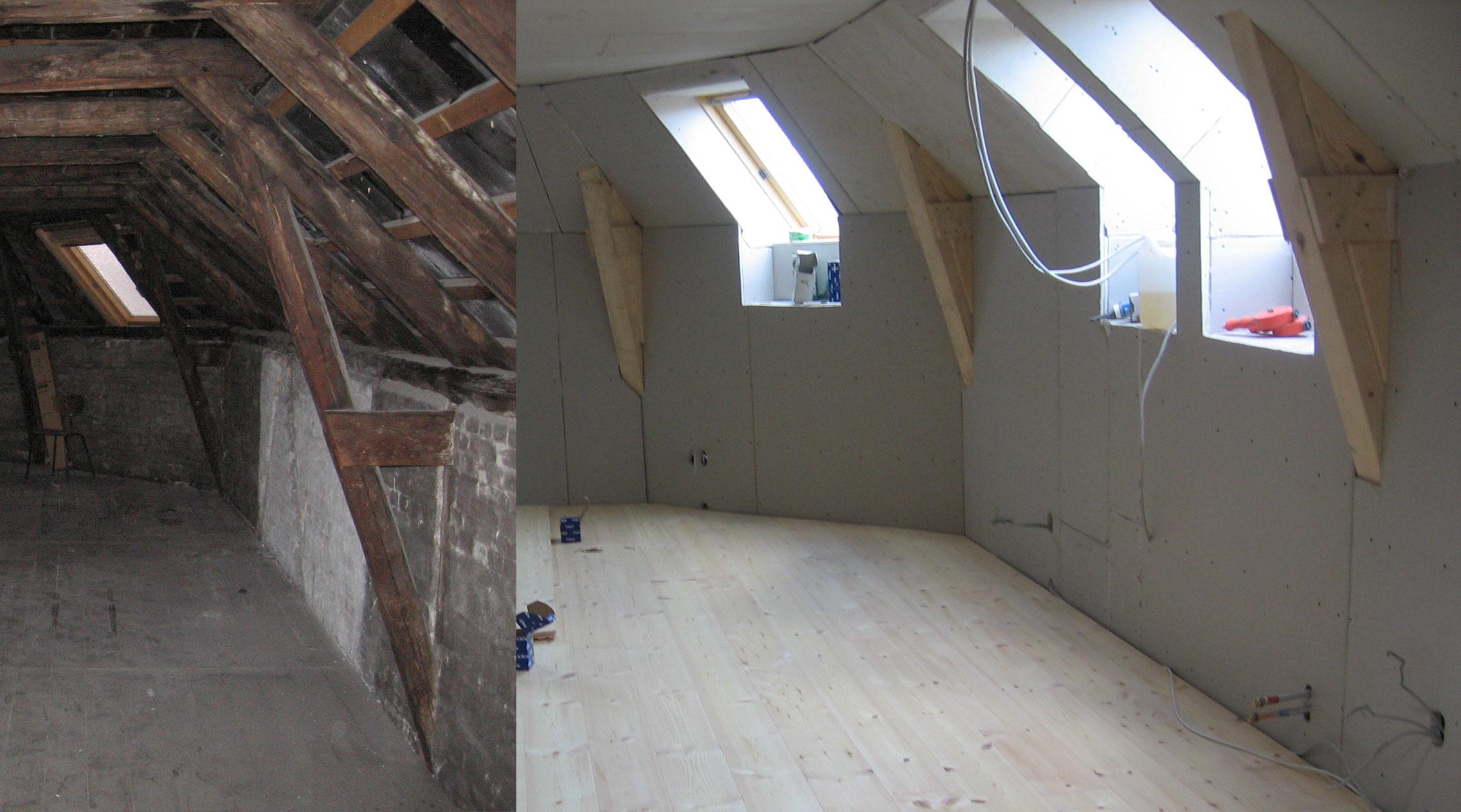 Dachgeschoss Innenausbau